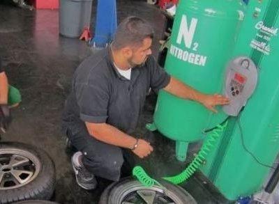 Зачем закачивают азот в шины, фото