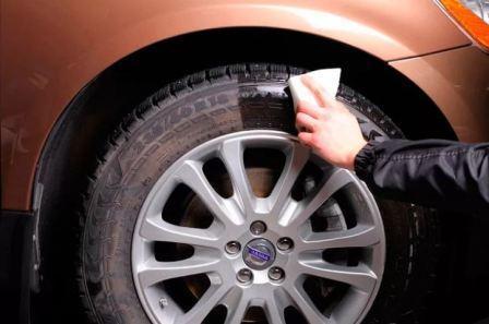 Чернение автомобильных шин