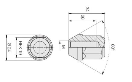 Размер гайки для колес Форд Фокус 2