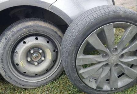 Самостоятельная замена колес на Киа