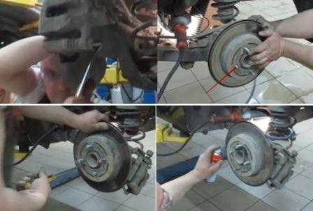 Замена шпильки колеса Солярис
