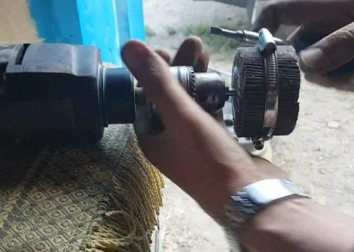 Фиксация лепесткового круга