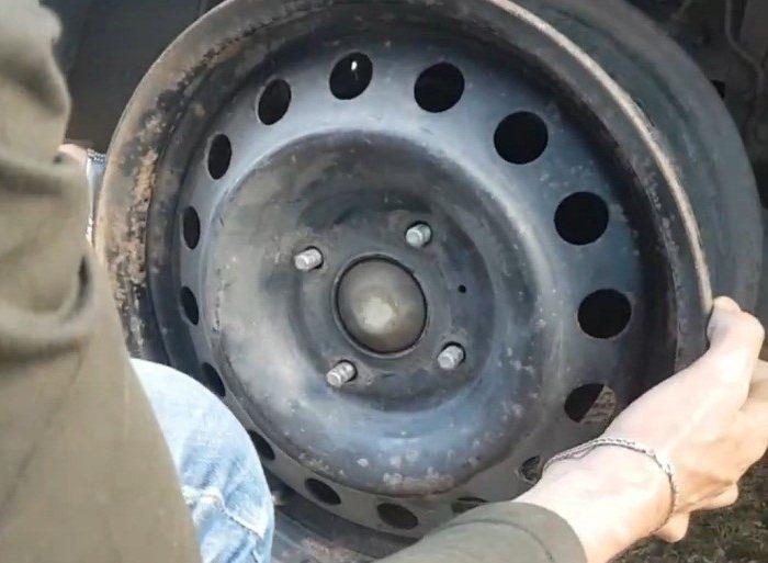 Примерка колеса