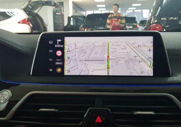 Особенности и характеристика навигации на Android BMW 5 g30